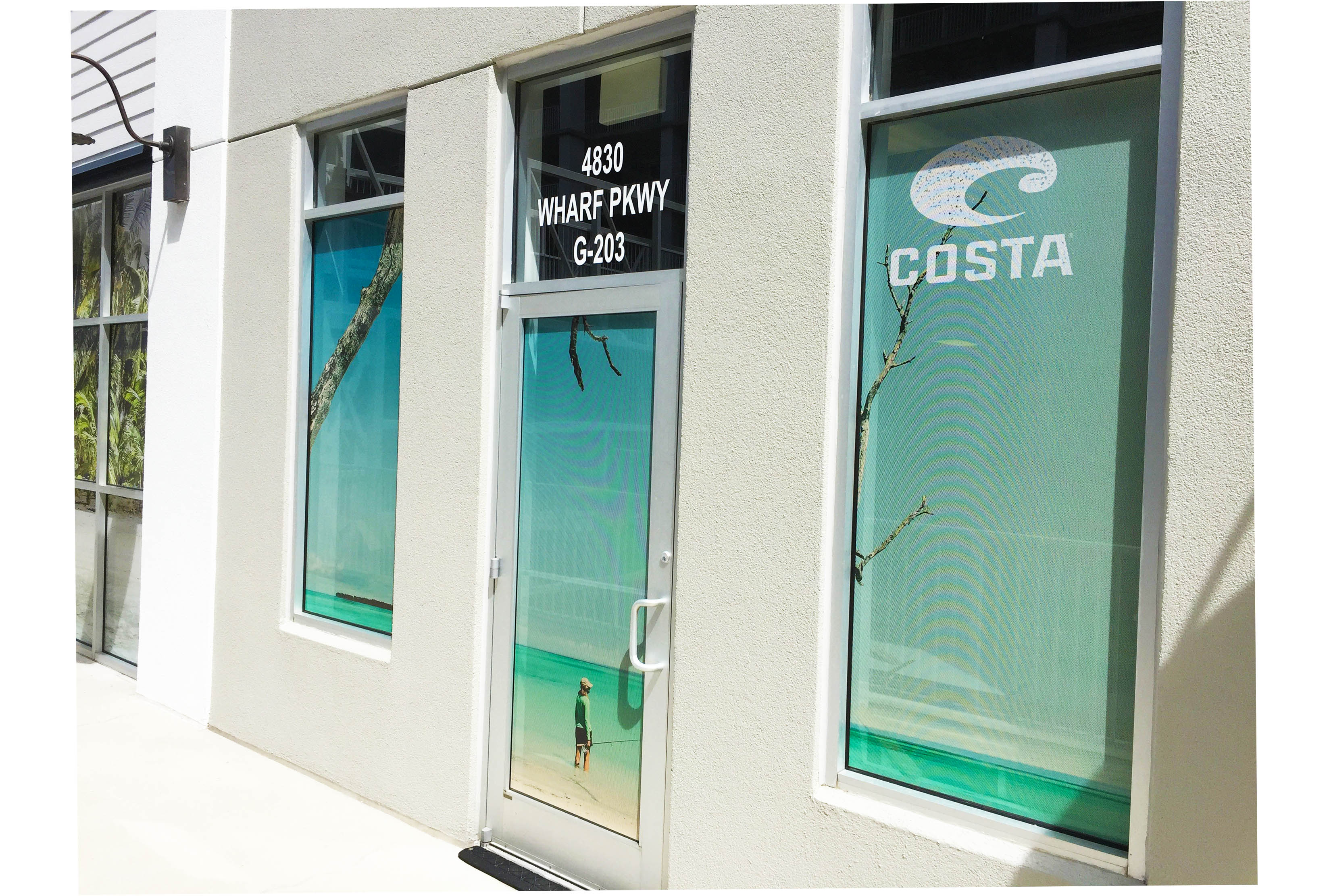 perforated window film_COSTA_commercial windows invisiguard