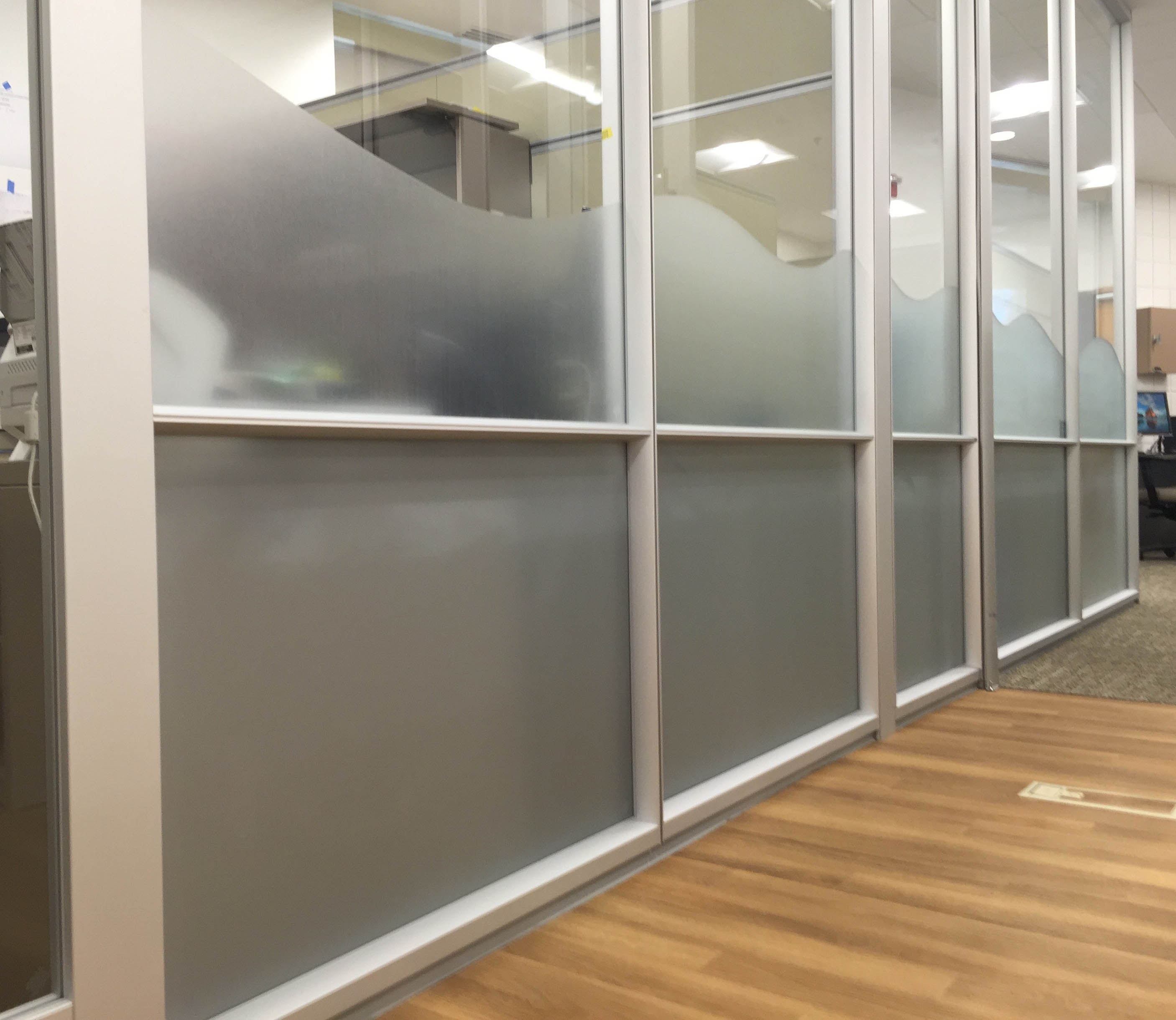 decorative film frosted privacy glass invisiguard for UWF
